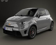 3D model of Fiat 500 Abarth 695 Biposto 2014