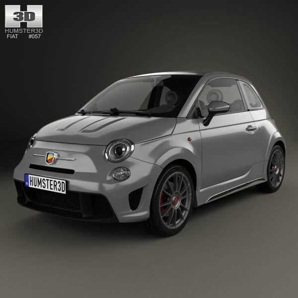 Fiat 500 Abarth 695 Biposto 2014 3d Model Humster3d