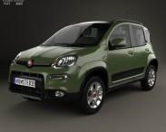 3D model of Fiat Panda 4×4 2012