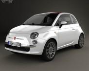 3D model of Fiat 500 C 2009