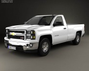 3D model of Chevrolet Silverado Regular Cab 2013