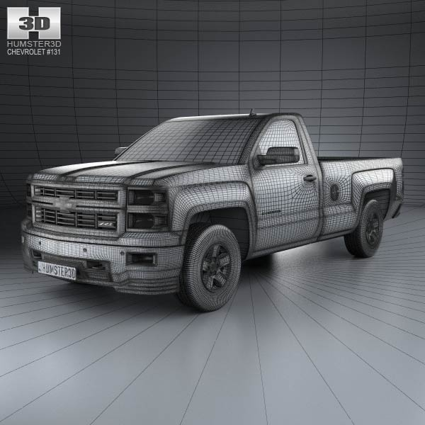 chevrolet silverado regular cab 2013 3d model humster3d. Black Bedroom Furniture Sets. Home Design Ideas
