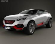 3D model of Peugeot Quartz 2015