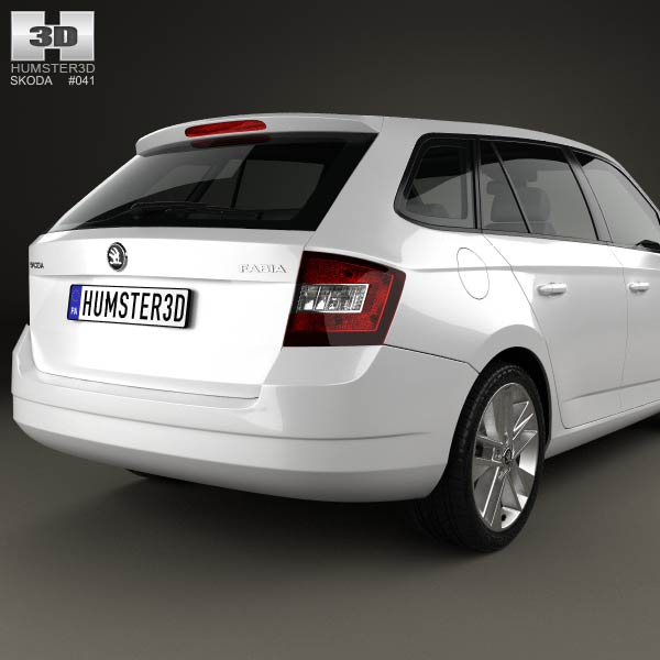 skoda fabia combi 2015 3d model humster3d. Black Bedroom Furniture Sets. Home Design Ideas