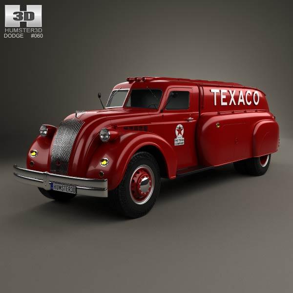 3D model of Dodge Airflow Tank Truck 1938