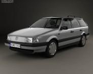 3D model of Volkswagen Passat (B3) variant 1988