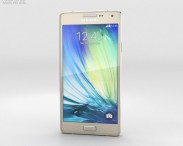 3D model of Samsung Galaxy A3 Champagne Gold