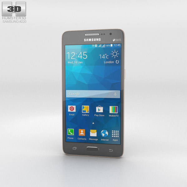 Samsung Galaxy Grand Prime Duos TV Gray 3D model - Humster3D