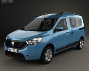 3D model of Dacia Dokker 2012
