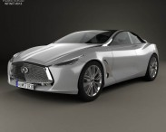 3D model of Infiniti Q80 Inspiration 2014