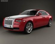 3D model of Rolls-Royce Ghost 2014