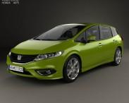 3D model of Honda Jade with HQ interior 2014
