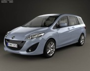 3D model of Mazda 5 with HQ interior 2010