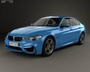 3D model of BMW M3 (F80) sedan 2014