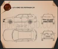 Alfa Romeo 159 Sportwagon 2011 Blueprint