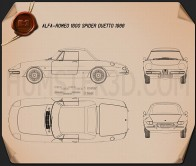 Alfa Romeo 1600 Spider Duetto 1966 Blueprint