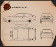Alfa Romeo Sprint 1976 Blueprint
