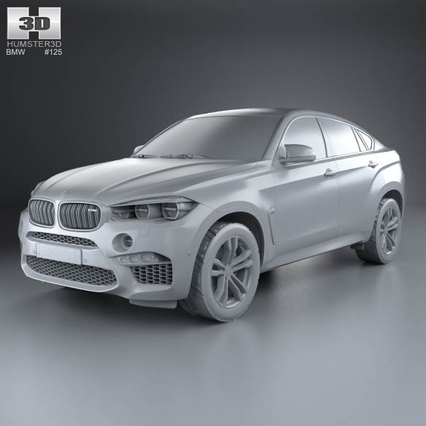 bmw x6 m 2014 3d model humster3d. Black Bedroom Furniture Sets. Home Design Ideas