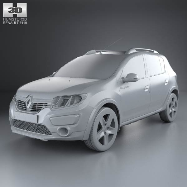 3D model of Renault Sandero Stepway (BR/RU) 2014