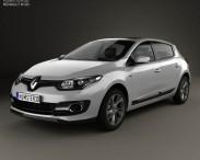 3D model of Renault Megane hatchback 2014