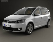 3D model of Volkswagen Touran with HQ interior 2010