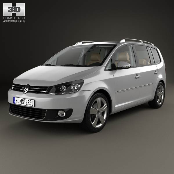 volkswagen touran with hq interior 2010 3d model humster3d. Black Bedroom Furniture Sets. Home Design Ideas
