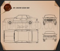 AMC Concord sedan 1980 Blueprint