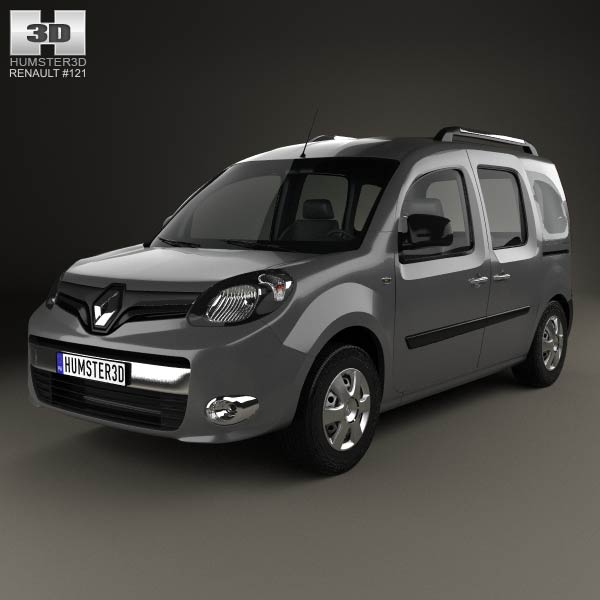 renault kangoo 2014 3d model humster3d. Black Bedroom Furniture Sets. Home Design Ideas