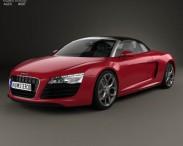 3D model of Audi R8 Spyder 2013