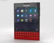 3D model of BlackBerry Passport Red