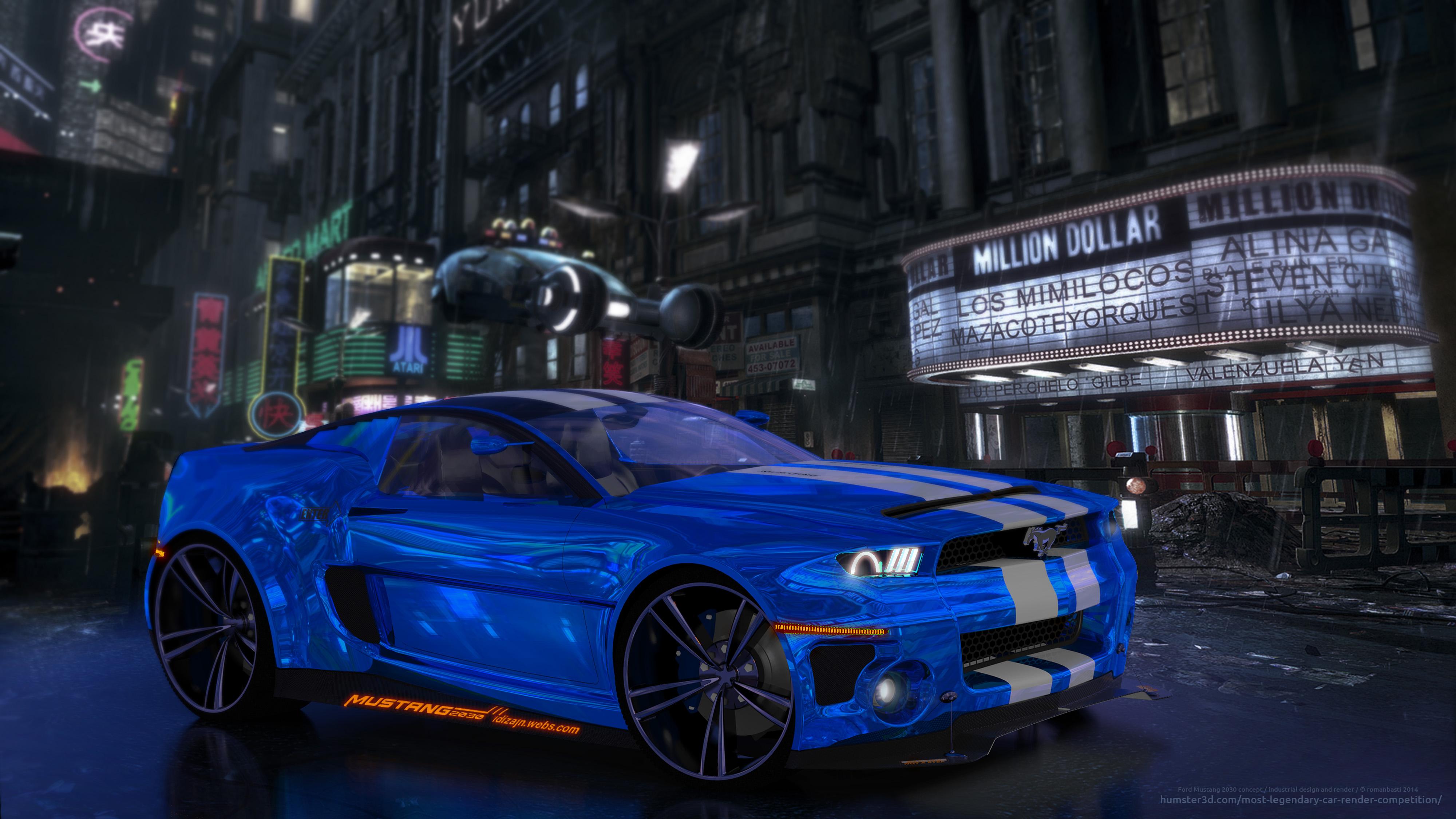 Ford Mustang 2030 Concept Roman Basti 3d Vehicle