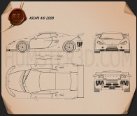 Ascari A10 2006 Blueprint
