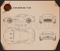 Aston Martin One-77 2010 Blueprint