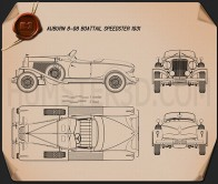 Auburn 8-98 Boattail Speedster 1931 Blueprint