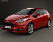 3D model of Ford Fiesta ST 3-door 2014