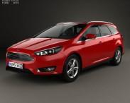3D model of Ford Focus turnier 2014