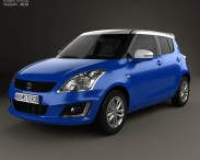3D model of Suzuki Swift SZ-L hatchback 5-door 2014