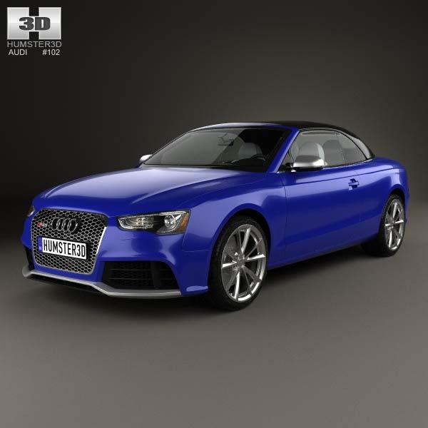3D model of Audi RS5 cabriolet 2012