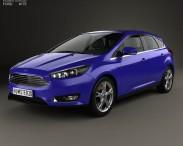 3D model of Ford Focus hatchback 2014