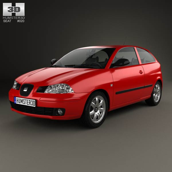 seat ibiza 3 door 2002 3d model humster3d. Black Bedroom Furniture Sets. Home Design Ideas