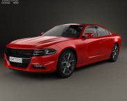 3D model of Dodge Charger (LD) 2015