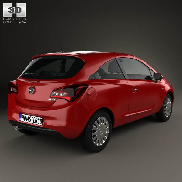 opel corsa e 3 door 2014 3d model humster3d. Black Bedroom Furniture Sets. Home Design Ideas