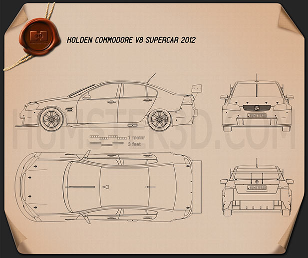 Holden Commodore V8 Supercar 2012 Blueprint Humster3d