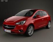 3D model of Opel Corsa (E) 5-door 2014
