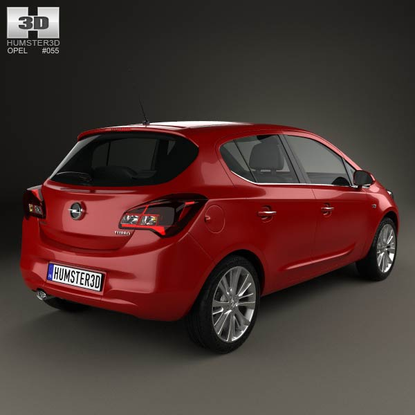 opel corsa e 5 door 2014 3d model humster3d. Black Bedroom Furniture Sets. Home Design Ideas