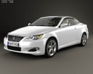 3D model of Lexus IS (XE20) with HQ interior 2010