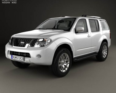 3D model of Nissan Pathfinder with HQ interior 2010