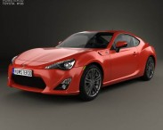 3D model of Toyota GT 86 with HQ interior 2013