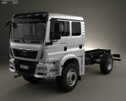 3D model of MAN TGM Chassis Truck 2008