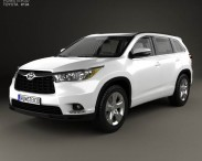 3D model of Toyota Highlander with HQ interior 2014